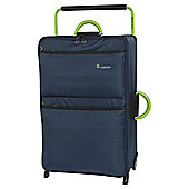 it luggage Worlds Lightest 2 Wheel Poseidon/Lime Large Suitcase