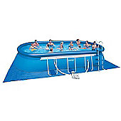 "Intex Oval Framed Inflatable Pool Package 20ft x 12ft x 48"" - 28194"