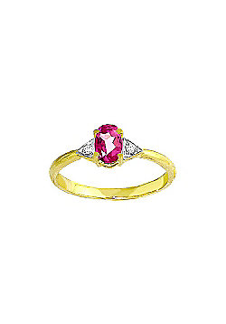QP Jewellers Diamond & Pink Topaz Allure Ring in 14K Gold