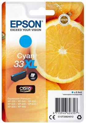 Epson Singlepack Cyan 33XL Claria Premium Ink C13T33624012
