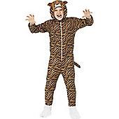 Tiger Children's Costume - White glitter