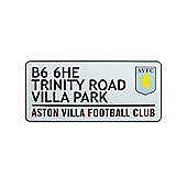 Aston Villa FC Trinity Road Street Sign