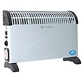Prem-i-air2 kW Convector Heater White With Turbo Fan and Timer