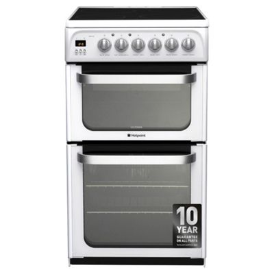 Hotpoint HUE52PS Ultima Double Electric Cooker - White