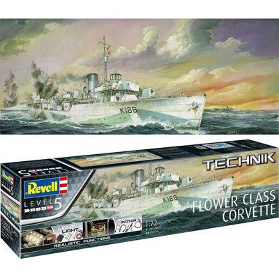 REVELL Flower Class Corvette 1:72 Ship Model Kit 00451