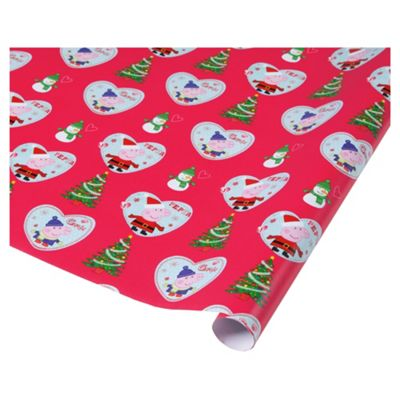 buy peppapig christmas wrapping paper 5m from our christmas wrapping paper range tesco. Black Bedroom Furniture Sets. Home Design Ideas