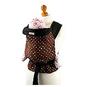 Palm and Pond Mei Tai Baby Carrier – Brown with Multi Polka Dots