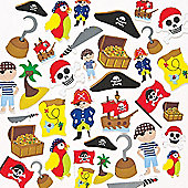 Pirate Foam Craft Stickers(Pack of 96)