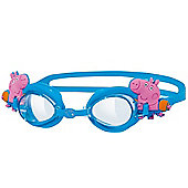 Zoggs Peppa Pig Junior Kids Adjustable UV Swimming Goggles - Blue