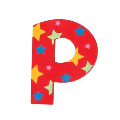 Bigjigs Toys Star Letter P (Red)