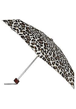 Totes Leopard Print Miniflat Umbrella - Neutral