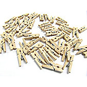 Mini Wooden Pegs Natural Colour 25mm (50 Pack)