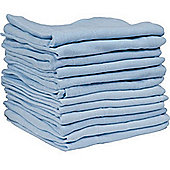 Kingfisher Muslin Cloths Pack of 12 Blue