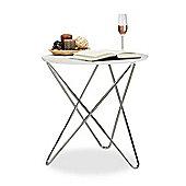 Amelia Round Side/End Table-White