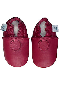 Dotty Fish Soft Leather Baby Shoe - Plain Pink - Pink