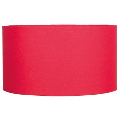 Modern 35cm Red Lamp Shade Poly Cotton Cylinder Drum Shade