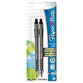 Papermate Flexgrip Ultra Ballpoint Pens Black 2 pack