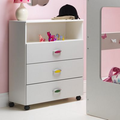 Caxton MyPod 3 Drawer Open Chest in White and Grey