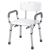 Lightweight Bath/Shower Seat With Backrest & Armrests