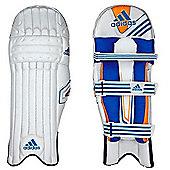 adidas SL Pro Kids Cricket Batting Pads White/Blue - Right Hand Small Boys