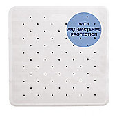 Showerdrape Anti Slip Anti Bacterial Shower Mat 53 x 53cm White