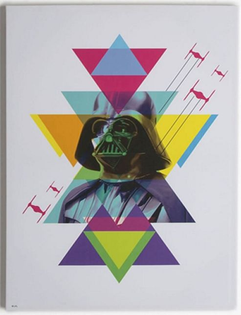 Star Wars Extra Large Canvas Art - Neon Darth Vader