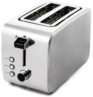 Igenix IG3202 2 Slice Toaster - Brushed and Polished Stainless Steel