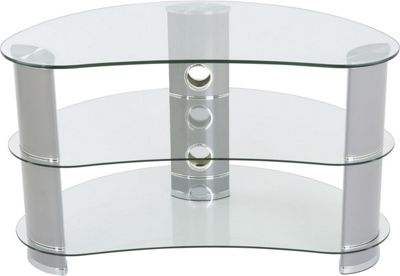 AVF 42 Inch Reflections - Jelly Bean Curved TV Stand - Silver