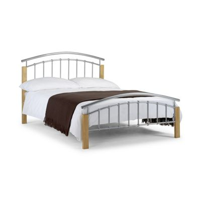 Curved Metal and Oak High End Bed Frame - Single 3ft (90cm)