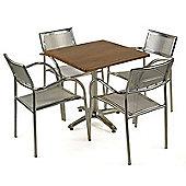 Brackenstyle Aluminium Ascot & Square Table Set - Seats 4
