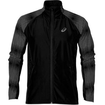 Asics Liteshow Mens Hi-Vis Running Fitness Jacket Coat Black - S