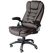 Homcom Massage Office Computer Chair W/Heat-Brown