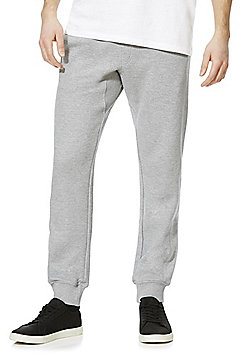 F&F Textured Slim Fit Cuffed Joggers - Grey