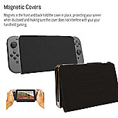 Orzly Screen Cover Stand for Nintendo Switch - Multifunctional Black Tablet Case