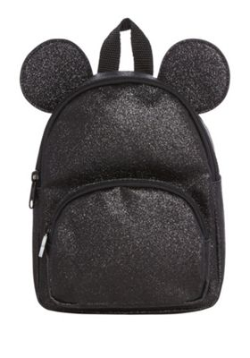 Disney Minnie Mouse Glitter Backpack Black One Size