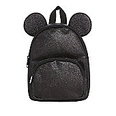 Disney Minnie Mouse Glitter Backpack - Black