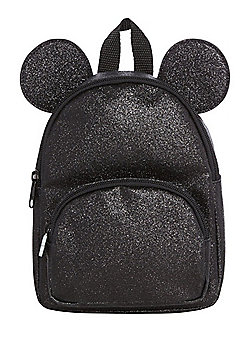 Disney Minnie Mouse Glitter Backpack - Black