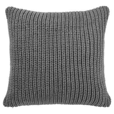 Tesco Chunky Knit Cushion Grey