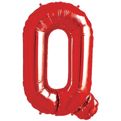Red Letter Q Balloon - 34 inch Foil