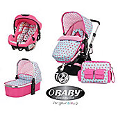 Obaby Chase with Mosquito Net 3 In 1 Travel System - Cottage Rose