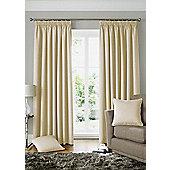 Alan Symonds Lined Solitaire Cream Pencil Pleat Curtains - 90x54 Inches (229x137cm)