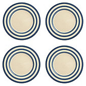 Fairmont & Main Kitchen Stripe Delph Blue Stripe Dinner Plate Set of 4