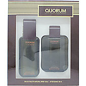 Antonio Puig Quorum Gift Set 100ml EDT + 100ml Aftershave For Men