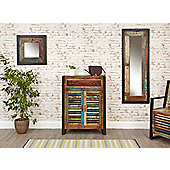 Urban Chic Mirror small (Hangs landscape or portrait) Brown - Baumhaus