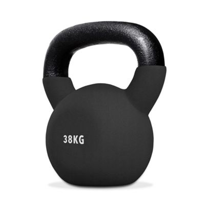 SnatchFlex Rubber Coated Cast Iron Kettlebell 38KG
