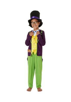Roald Dahl Willy Wonka Fancy Dress Costume Purple 5-6 years