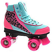 Luscious Retro Quad Roller Skates - Summer Dayz - Blue