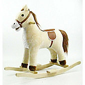 Cuddles Collection Small Rocking Horse (Beige)