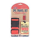 Globetrek Luggage Strap and Tag Set, Red
