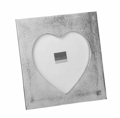 Buy Parlane Large Pretty Silver Heart Shaped Photo Frame From Our
